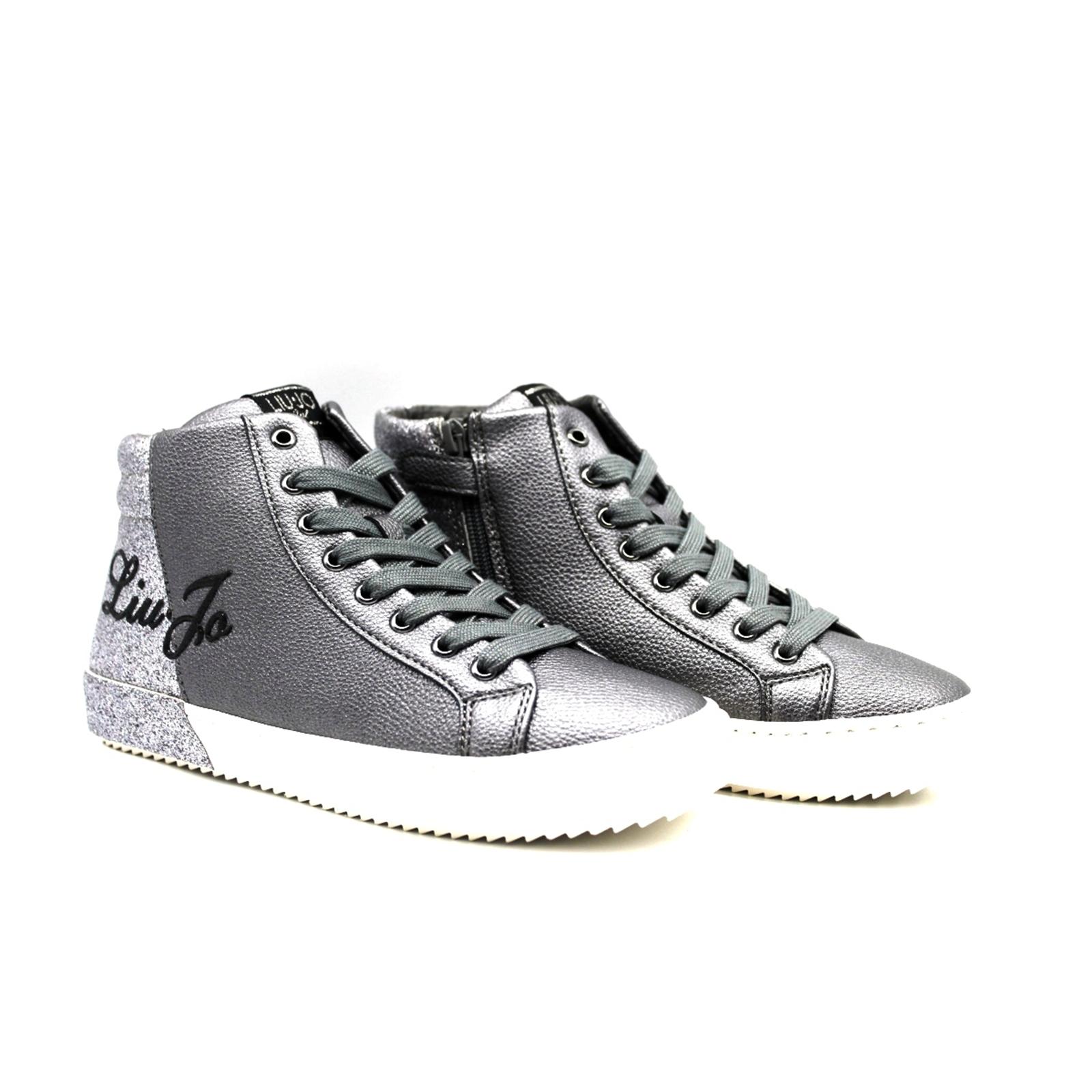 new style d5c4c 9a10b Dettagli su Scarpe sneaker Liu Jo bambina 20004 colore grigio dal 35-40  listino € 99,00