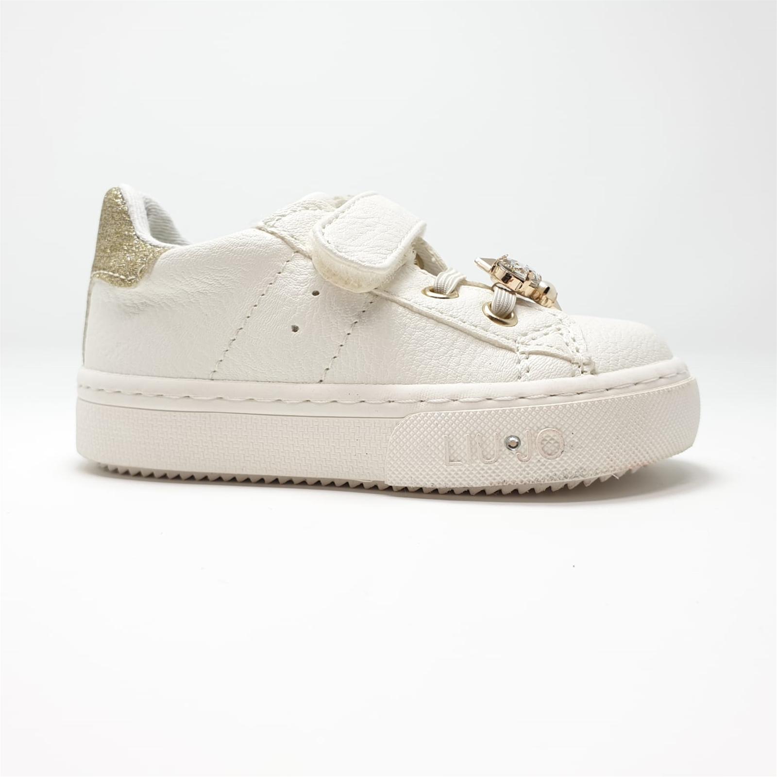 separation shoes 5bc4f d80c9 Dettagli su Scarpe sneaker Liu Jo bambina 20222 colore bianco latte/platino  listino € 79,50