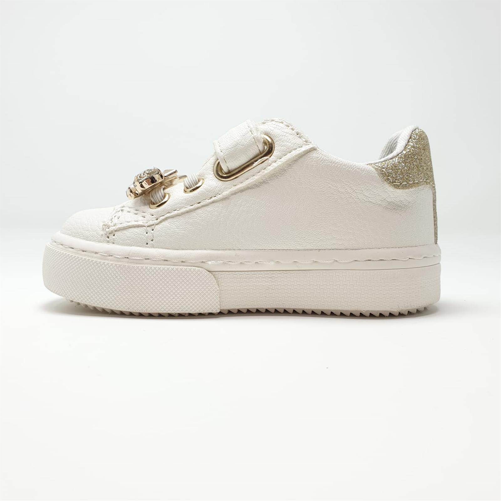 Dettagli su Scarpe sneaker Liu Jo bambina 20222 colore bianco latteplatino listino € 79,50