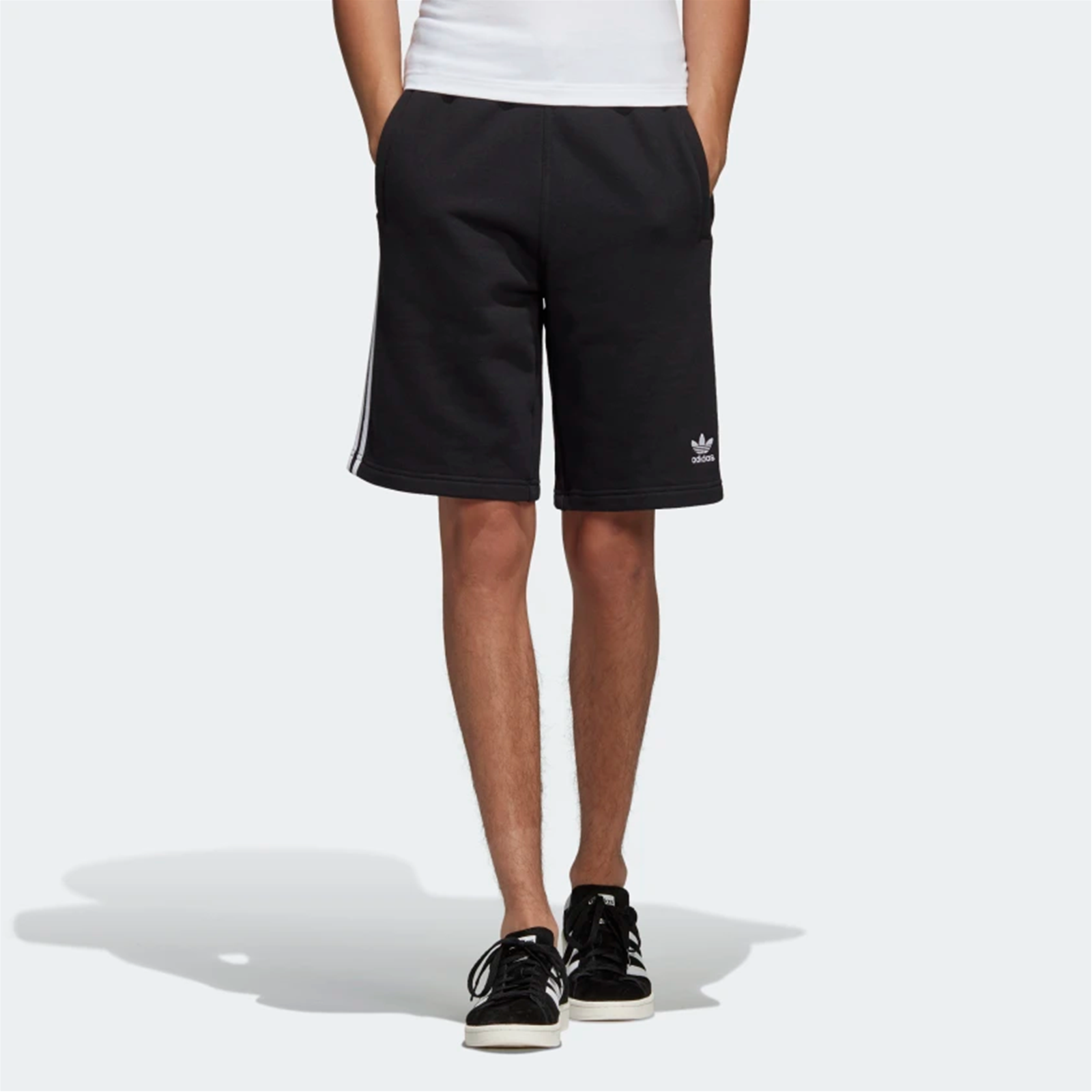 l'ultimo 9471c 50a08 Dettagli su Short pantaloncini Adidas 3 Stripe Short DH5798 uomo colore  nero listino € 40,00